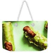 Ghastly Green Halloween Finger Food Weekender Tote Bag