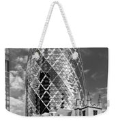 Gherkin And St Andrew's Black And White Weekender Tote Bag