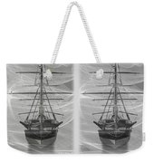 Ghost Ship - Gently Cross Your Eyes And Focus On The Middle Image Weekender Tote Bag