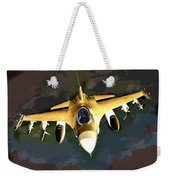 Ghostly Fighter Jet In The Sky Above The Earth Weekender Tote Bag