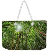 Giant Bamboo In Forest With Sunflare Weekender Tote Bag