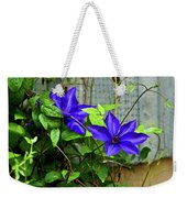 Giant Blue Clematis Weekender Tote Bag