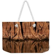 Giant Cypress Tree Trunk And Reflection Weekender Tote Bag