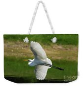 Giant Egret Grace Weekender Tote Bag