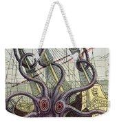 Giant Octopus Weekender Tote Bag by Denys Montfort