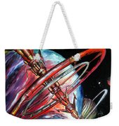 Giant, Old Red Space Shuttle Of Alien Civilization Weekender Tote Bag