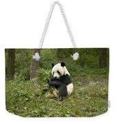 Giant Panda Eating Bamboo Weekender Tote Bag