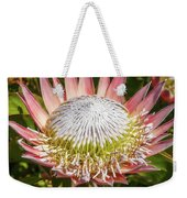 Giant Pink King Protea Flower Weekender Tote Bag