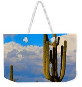Giant Saguaro In The Southwest Desert  Weekender Tote Bag