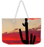 Giant Saguaro  Southwest Desert Sunset Weekender Tote Bag
