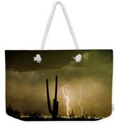 Giant Saguaro Southwest Lightning  Peace Out  Weekender Tote Bag
