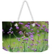 Giant Swallowtail Butterfly In Purple Field Weekender Tote Bag