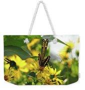 Giant Swallowtail Wings Folded Weekender Tote Bag