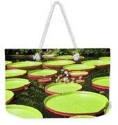 Giant Water Lily Platters Weekender Tote Bag