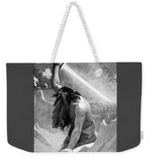 Giant With A Flaming Sword Weekender Tote Bag