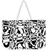 Gibberish Black And White Abstract Weekender Tote Bag