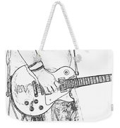 Gibson Les Paul Guitar Sketch Weekender Tote Bag