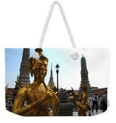 Gilded Statues Of Gods At The Grand Weekender Tote Bag