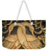 Gilded Temple Carving Of Geese Weekender Tote Bag