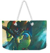Gimie Dawn 1 - St. Lucia Parrots Weekender Tote Bag