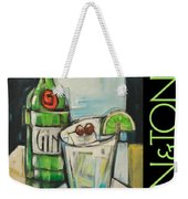 Gin And Tonic Poster Weekender Tote Bag