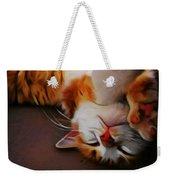 Ginger Feline Weekender Tote Bag