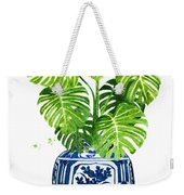 Ginger Jar Vase 1 With Monstera Weekender Tote Bag