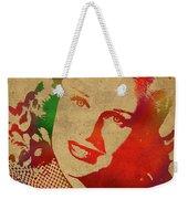 Ginger Rogers Watercolor Portrait Weekender Tote Bag