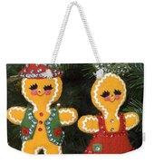 Gingerbread Christmas Ornaments Weekender Tote Bag