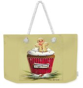 Gingerbread Cookie Cupcake Weekender Tote Bag