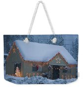 Gingerbread House In Snow Weekender Tote Bag