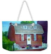 Gingerbread House Weekender Tote Bag by Sheila Mashaw