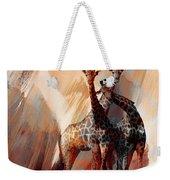 Giraffe Abstract Art 002 Weekender Tote Bag