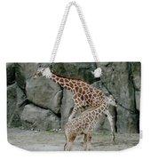Giraffe And Baby  Weekender Tote Bag