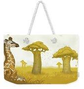 Giraffe And Savanna Weekender Tote Bag