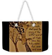 Giraffe Bible Verse Weekender Tote Bag