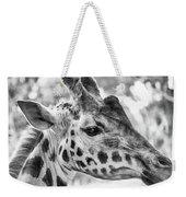 Giraffe Bw Weekender Tote Bag