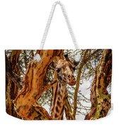 Giraffe Camouflage Weekender Tote Bag