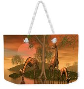 Giraffe Family By John Junek Weekender Tote Bag
