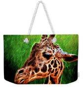 Giraffe Fractal Weekender Tote Bag