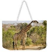 Giraffe Grazing Weekender Tote Bag