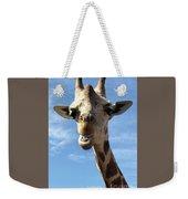 Giraffe Greeting Weekender Tote Bag