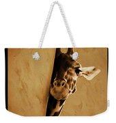 Giraffe Hiding  Weekender Tote Bag
