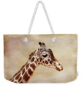 Giraffe Portrait With Texture Weekender Tote Bag