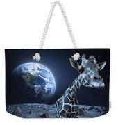 Giraffe On Moon Weekender Tote Bag