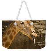 Giraffe Raspberry Weekender Tote Bag