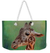 Giraffe Square Painted Weekender Tote Bag