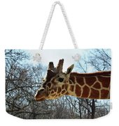 Giraffe Stretching For A View Weekender Tote Bag
