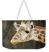 Giraffe Up Close Weekender Tote Bag