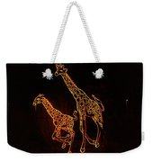 Giraffes Light Show  Weekender Tote Bag